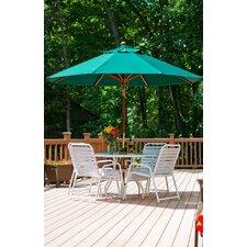 9 ft. Octagonal Commercial Grade Wooden Market Umbrella
