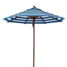 7.5 ft. Octagonal Commercial Grade Striped Wooden Market Umbrella