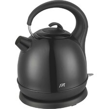 Stainless Cordless Electric Kettle with Black Coating