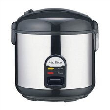 Mr. Rice 10 Cup Rice Cooker in Stainless Steel