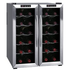 24 Bottle Dual Zone Freestanding Wine Refrigerator