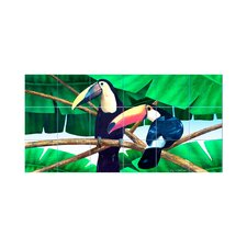 Toucans Kitchen Tile Mural in Multi-Colored
