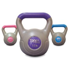 Cement Filled 3 Piece Kettlebell Set