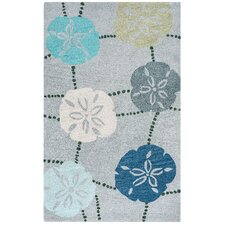 Cabot Bay Hand-Tufted Blue Area Rug