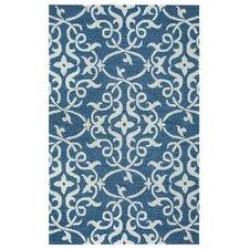Loureli Hand-Tufted Blue Area Rug
