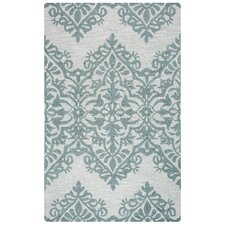 Lunicca Hand-Tufted Green/Gray Area Rug