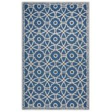 Lunicca Hand-Tufted Blue Area Rug