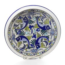 Aqua Fish Design Large Serving Bowl