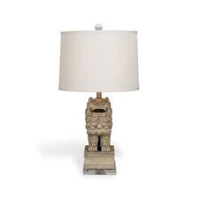 """Chow 29"""" H Table Lamp with Drum Shade"""