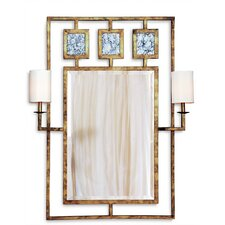 Avenue Mirror with Sconces