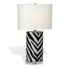 """Kenya Oval 28"""" H Table Lamp with Oval Shade"""