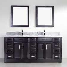 "Caledonia 75"" Double Bathroom Vanity Set"