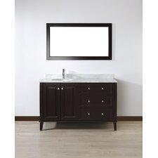 "Milly 55"" Single Bathroom Vanity Set with Mirror"