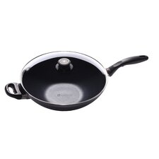 "12.5"" Non Stick Aluminum Wok with Lid"