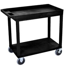 E Series Heavy Duty Utility Cart with 1 Tub/1 Flat Shelves
