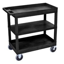E Series Heavy Duty Utility Cart with 2 Tub/1 Flat Shelves