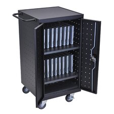 18-Compartment Laptop Charging Cart
