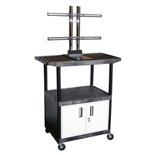 Mobile Plasma / LCD Stand with Cabinet