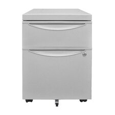 2-Drawer Mobile Pedestal File Cabinet