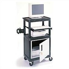 Stand-Up Laptop/Overhead Workstation with Locking Steel Cabinet
