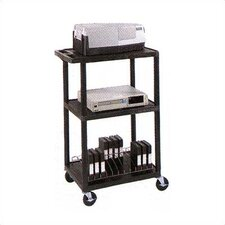 High Open Shelf Table with Electric Assembly