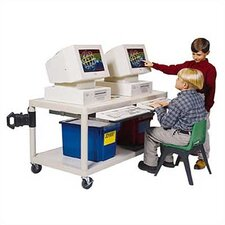 Pull-Out Keyboard Shelf Training Table