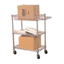 High Fully Adjustable 3 Shelf Wire Tub Cart
