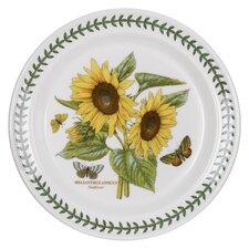 "Botanic Garden 10.5"" Sunflower Motif Dinner Plate (Set of 6)"