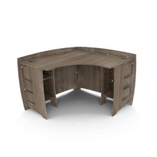 "Driftwood 47"" Corner Executive Desk"