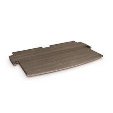 "Driftwood 0.5"" H x 24"" W Desk Printer Shelf"