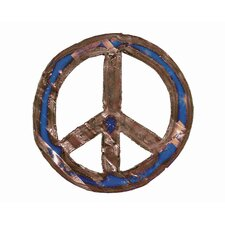 Moonshine Small Peace Sign Metal Wall Décor