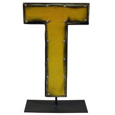 Moonshine Metal Letters T on a Stand Letter Block