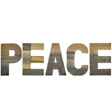 Chris Bruning Sahara PEACE Lettering Wall Décor