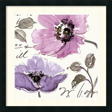 'Floral Waltz Plum I' by Pela Studio Framed Painting Print