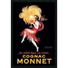 'Cognac Monnet' by Leonetto Cappiello Framed Vintage Advertisement