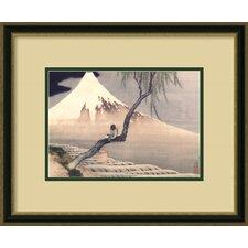 'Boy on Mount Fuji' by Katsushika Hokusai Framed Painting Print