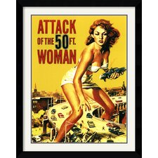 Attack of The 50' Woman Framed Vintage Advertisement