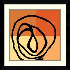 'Swirl Pattern III' by Gregory Garrett Framed Graphic Art