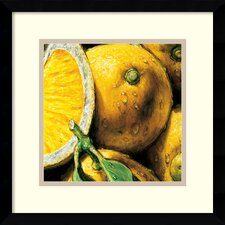 'Lemons' by Alma'Ch Framed Painting Print