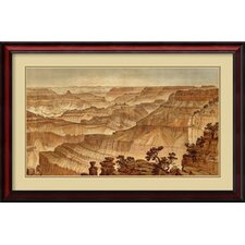 'Grand Canyon - Panorama from Point Sublime (Part III, Looking West), 1882' by William Henry Holmes Framed Painting Print