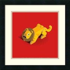 'Lion' by Bo Virkelyst Jensen Framed Art Print
