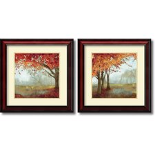 'A Sense of Space' by Asia Jensen 2 Piece Framed Painting Print Set