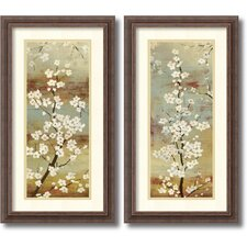 'Blossom Canopy' by Asia Jensen 2 Piece Framed Painting Print Set