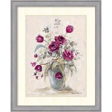 Crimson Roses ll by Peggy Abrams Framed Painting Print