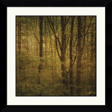 'Fog in Mountain Trees No. 2' by John W. Golden Framed Painting Print