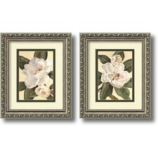 'Magnolias' by Waltraud Fuchs Von Schwarzbek Framed Graphic Art (Set of 2)