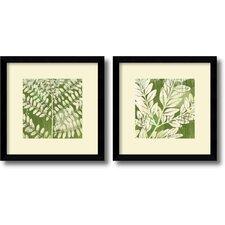 'Leaves' by Erin Clark Framed Graphic Art