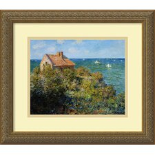 'Fishermans Cottage on the Cliffs at Varengeville' by Claude Monet Framed Painting Print