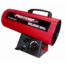 60,000 BTU Portable Propane Forced Air Utility Heater with Variable Control