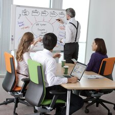 2 Panel Electronic Copyboard Free-Standing Interactive Whiteboard